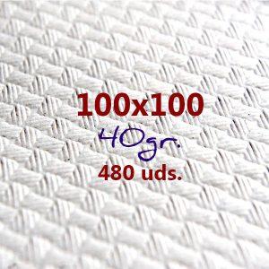 Mantel de papel cortado 100x100 Blanco 40 gr (480 manteles)