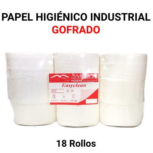 Papel higiénico industrial gofrado Alcaraz Higiene