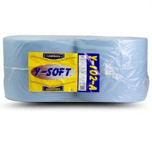 Bobina papel autocorte azul 2 capas Alcaraz Higiene