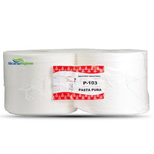 Bobina rollo papel pasta pura Alcaraz Higiene
