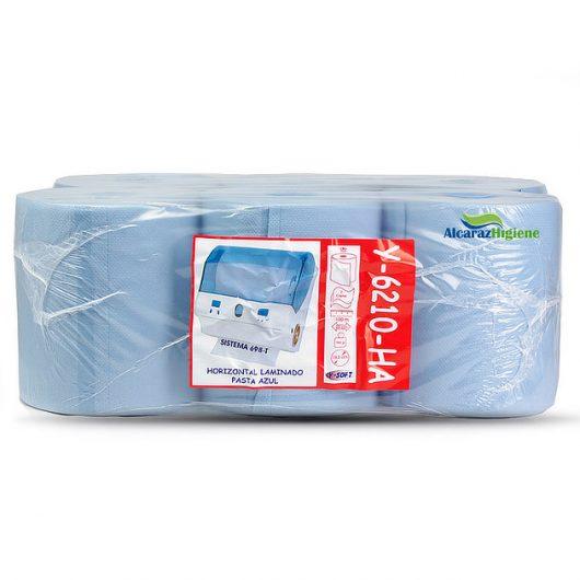 Bobinas de papel autocorte azul pack 6 rollos