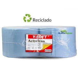 Bobinas de papel industrial de limpieza reciclado Actyclean ATY123RA
