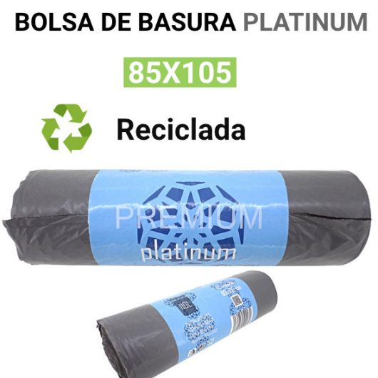 Bolsa basura reciclada Platinum 85x105