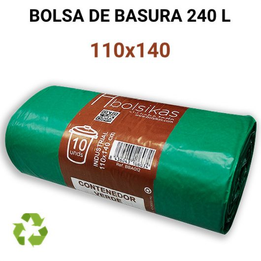 Bolsa de basura industrial 110x140 cm 240 litros Alcaraz Higiene