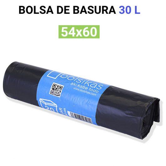 Bolsa de basura negra 54x60 30L 20 bolsas