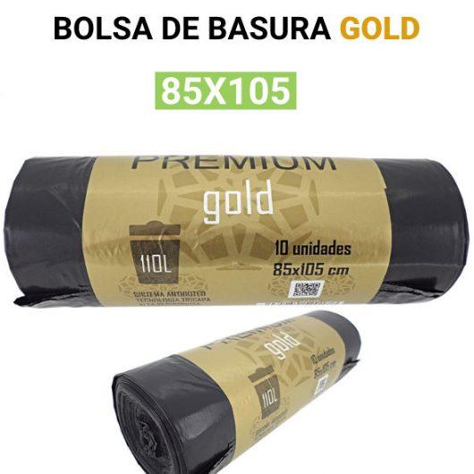 Bolsa de basura negra Gold 85x105 10 bolsas