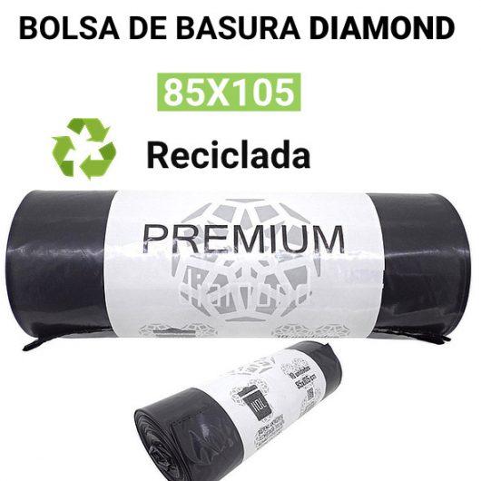 Bolsas de basura recicladas Diamond 85x105