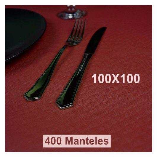 Mantel papel Burdeos 100x100 Alcaraz Higiene