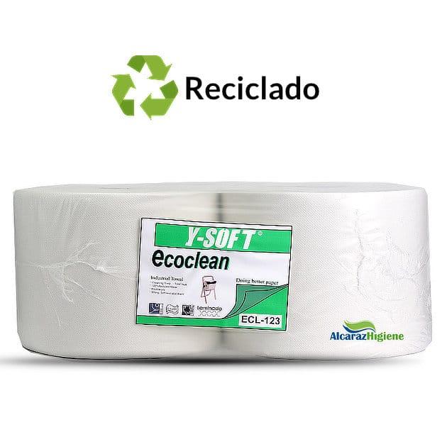 Pack de 2 rollos Bobina papel industrial reciclada absorbente