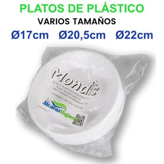 platos de plástico blanco