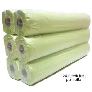 Sabanas de papel camilla verde 59x180 Caja de 6 rollos
