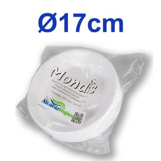 plato plástico 17 cm
