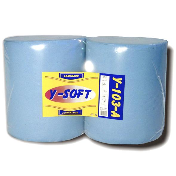 Bobina de papel industrial de limpieza 3 capas
