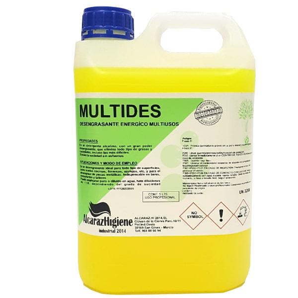 Desengrasante multiusos concentrado Multides 5 litros