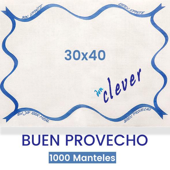 Mantel de papel individual blanco 30x40