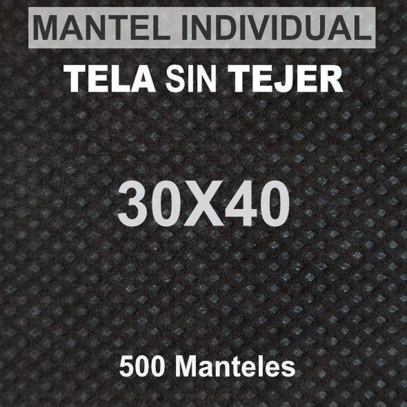 Mantel tela sin tejer 30x40 negro