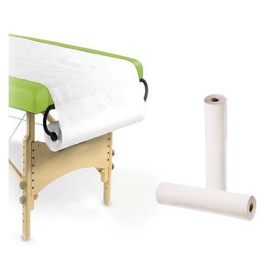 rollos de papel sábana camilla blanco