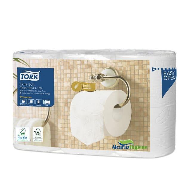 Papel higiénico doméstico Tork 4 capas 42 rollos Alcaraz higiene
