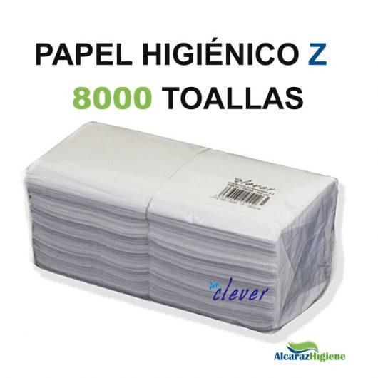 Papel higiénico engarzado 8000 toallas