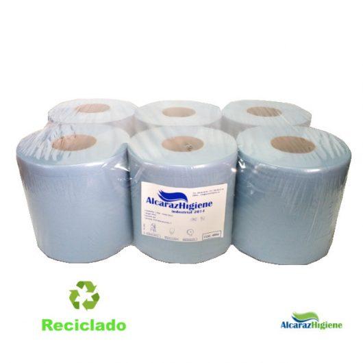 Papel secamanos mecha gofrado 100% reciclado