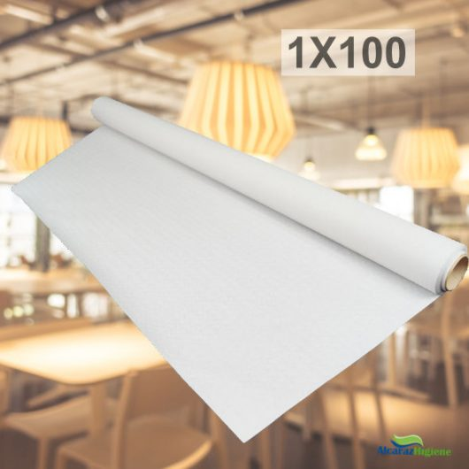 Rollo mantel de papel blanco 1x100