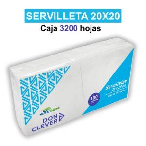 Servilletas de papel blancas 20x20