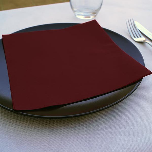Servilletas papel tissue burdeos 40x40 (600 uds.)