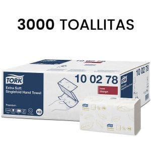 TOALLAS DE PAPEL SECAMANOS PLEGADO 23X 22,6 CM TORK 100278