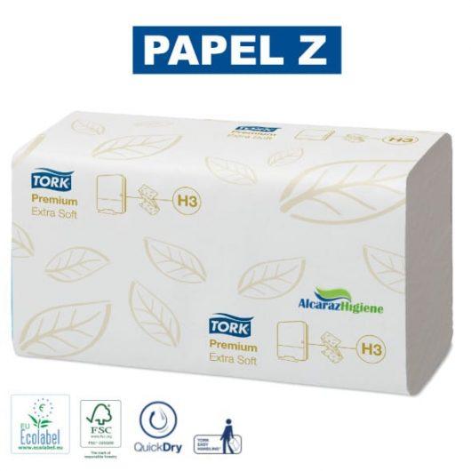 Toalla secamanos de papel plegada tork