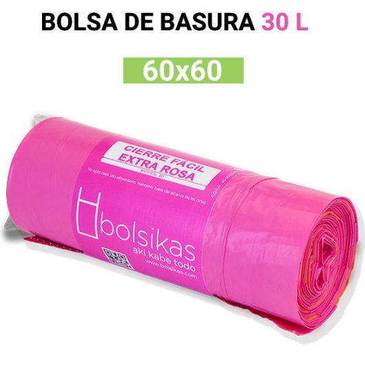 Bolsa de basura rosa 60x60 30L