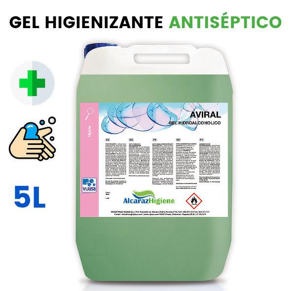 Gel de manos hidroalcoholico Aviral 5lt