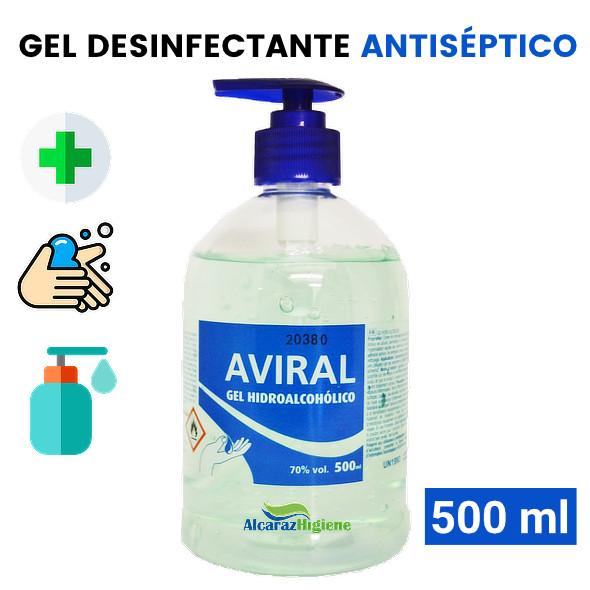 gel de manos antiséptico hidroalcoholico sin agua Aviral 500 ml