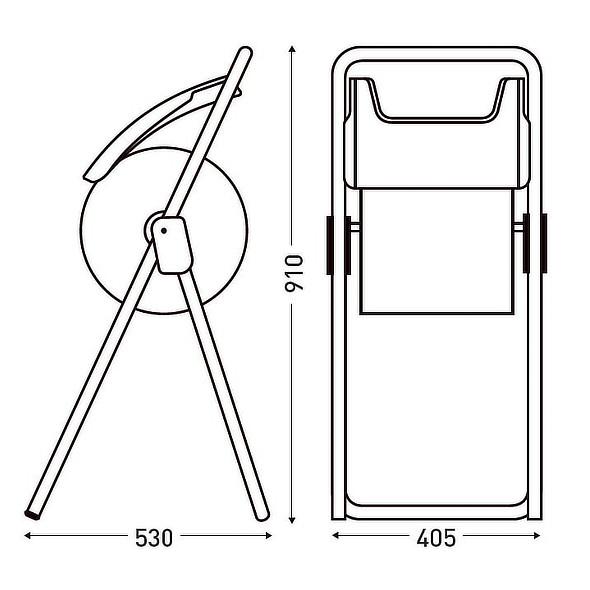 Portabobinas tripode medidas jvd