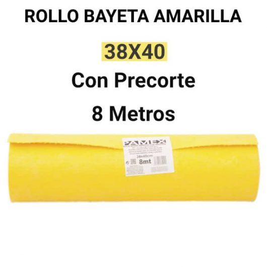Bayeta rollo amarilla 8 metros