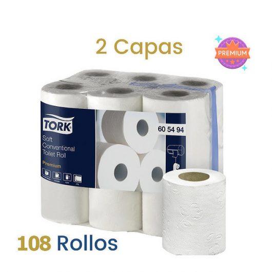 Papel higienico tork doble capas 108 rollos Alcaraz Higiene