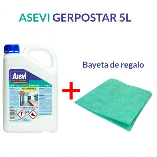 Asevi gerpostar 5 litros con bayeta