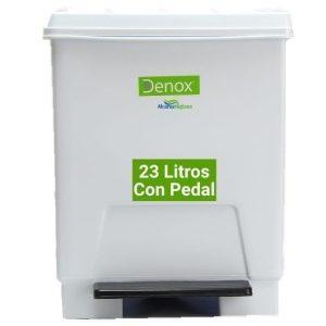 Cubo basura ecologico 23 litros blanco y tapa