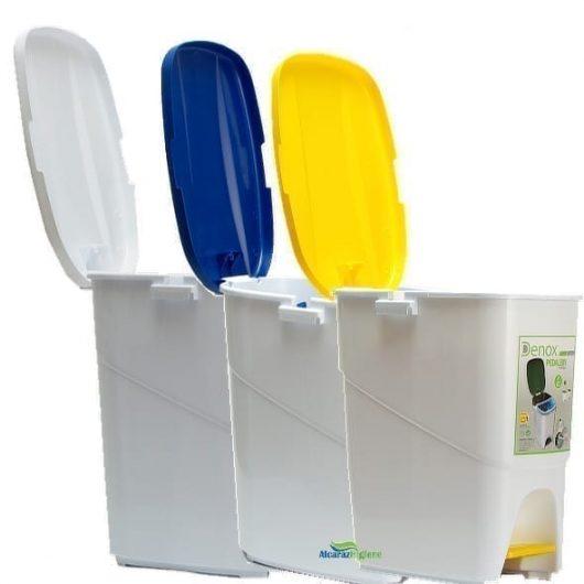 Cubos de basura 25 litros varios colores