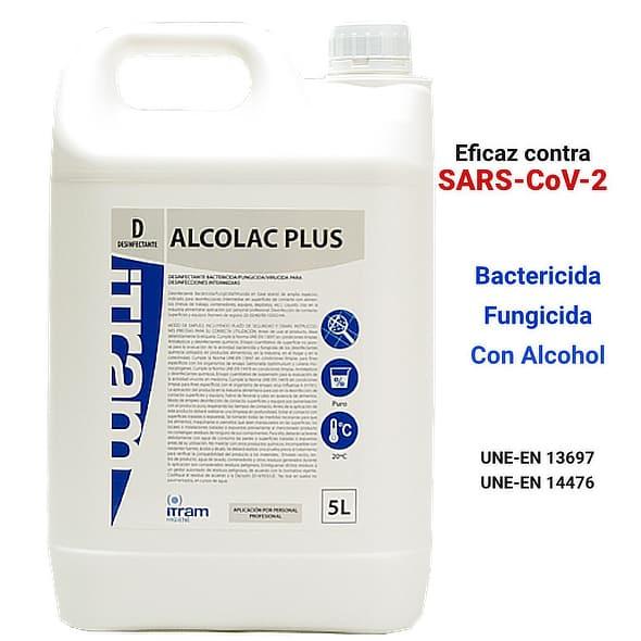 Limpiador desinfectante virucida Alcolac Plus 5L