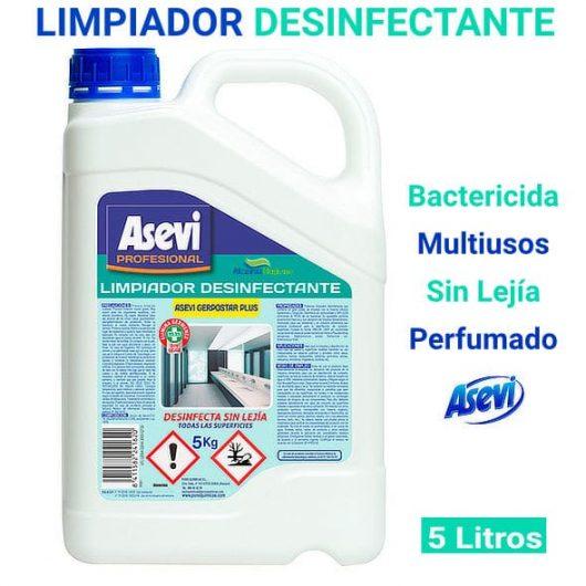 Limpiador desinfectante bactericida Asevi Gerpostar plus 5 Litros
