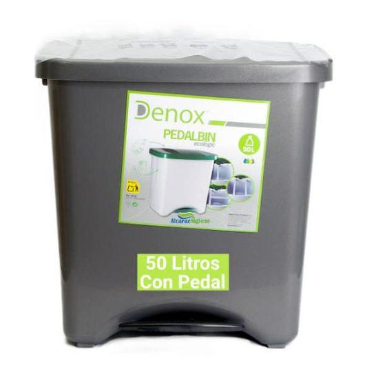 Cubo de basura 50 litros gris
