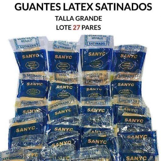 Guantes de latex satinados crema