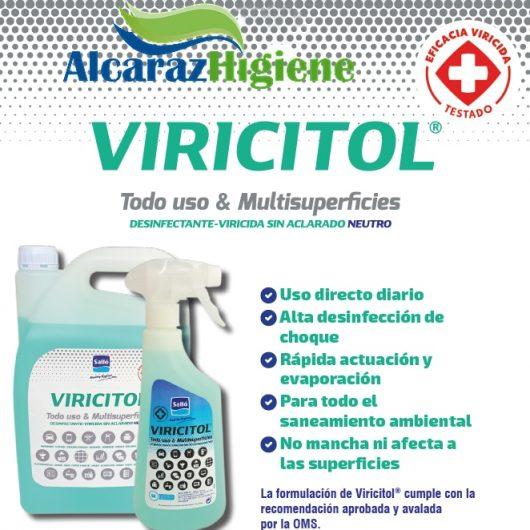 Desinfectante Viricitol virucida microatomización Alcaraz Higiene