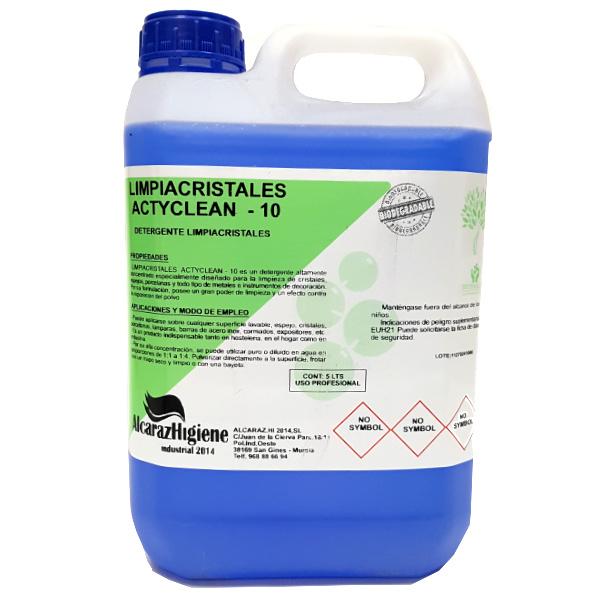 Limpiacristales concentrado detergente Actyclean Nº10