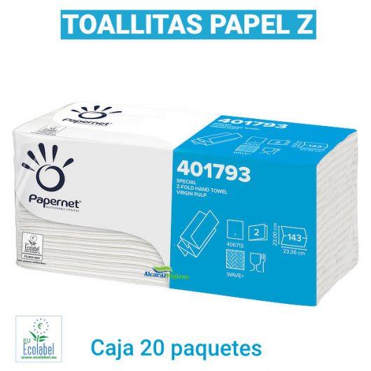 Toallitas secamanos papel z Alcaraz Higiene