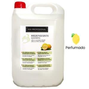 Gel hidroalcoholico de manos perfumado Mix Profesional 5 litros