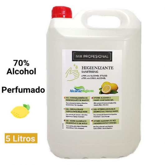 Gel higienizante de manos perfumado 5 litros