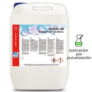 Desinfectante multiusos virucida Alcol-25 ( 5 Litros)