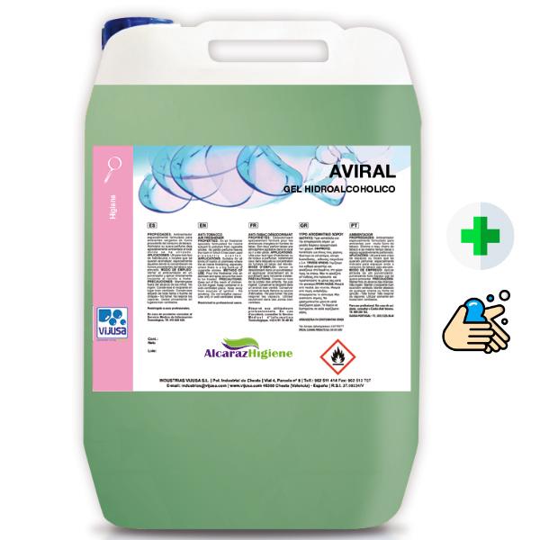 Gel hidroalcoholico desinfectante de manos Aviral 5lt