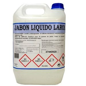 Jabón de manos industrial Larol 5 litros